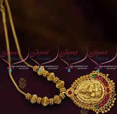 gold short chain necklace images Nl8568 red green traditional gold design temple pendant beads roll JPG
