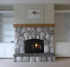 interior amazing modern stone fireplace mantels leather sofa