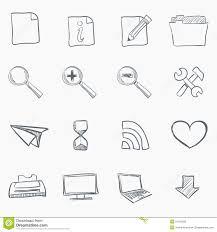 sketch icon set royalty free stock image image 21155756
