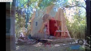 gambrel cabin plans gambrel shed construction project youtube
