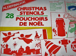 Christmas Windows Decorations Spray Vintage Alderbrook Christmas Stencils For Spray Snow Window