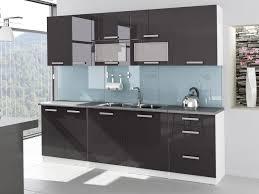 cuisine laqué cuisine complète 2m60 laquée grise tara design moderne
