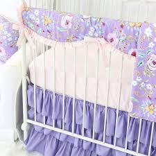 kinsley u0027s purple floral baby bedding swatch kit caden lane