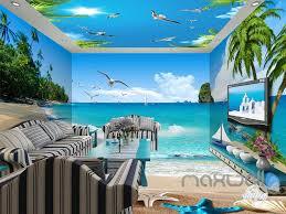 3d beach starfish sea bird palm entire living room wallpaper wall 3d beach starfish sea bird palm entire living room wallpaper wall mural art decor idcqw