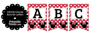 pink minnie mouse banner letters u2014 printable treats