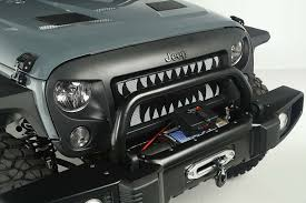 jeep wrangler front grill rugged ridge spartan grille insert land shark