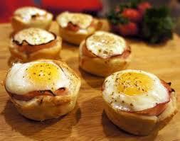 canape cups recipes ham egg and toast cups recipe recipetips com