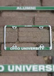 ohio alumni license plate frame ohio alumni chrome license plate frame ohio alumni association store