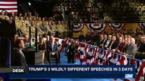 trump s desk i24news i24news desk trump u0027s 3 wildly different speeches in 3