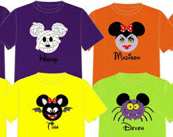 halloween disney vacation group shirts