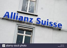 alliance suisse allianz suisse bank logo sign basel switzerland stock photo
