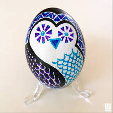Easter Eggs Decorations Pinterest by Ukrainian Pysanky Technique Modern Design Owl By Katya