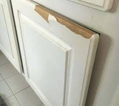 how to fix peeling thermofoil cabinets thermofoil cabinets peeling very sad bathroom cant afford to replace