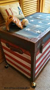 painted flag trunk guest post star spangled banner painting