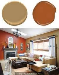 for burnt orange paint color powder room transitional with brown