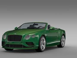 bentley continental 2017 bentley continental gt speed convertible 2017 3d model max obj 3ds