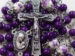 purple rosary rosary our baby jesus purple mountain jade gemstones