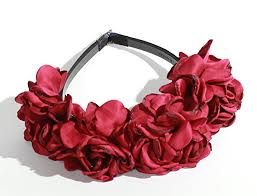 burgundy headband satin burgundy petal flower crown plastic