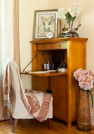 secretary desk with hutch home office eclectic with abattant art chair curtain desk drop front desk
