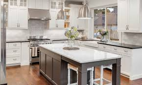 painted cabinets kitchen sound finish cabinet painting refinishing seattle professional