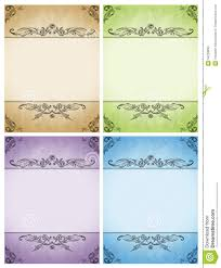Wedding Invitations With Menu Cards Set Of Designs Cards Wedding Invitations The Menu Stock