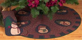 tea dyed tree skirts country quilts by choice quilts
