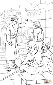 parable of the great banquet coloring page free printable