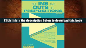 pdf the ins and outs of prepositions a guidebook for esl