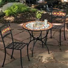outdoor mosaic bistro table mosaic bistro table set furniture mosaic bistro table sets for