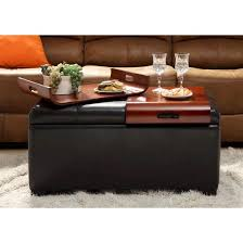 espresso storage ottoman with trays convenience concepts target