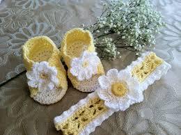 baby crochet headbands booties sandals and headband set for baby girl crochet