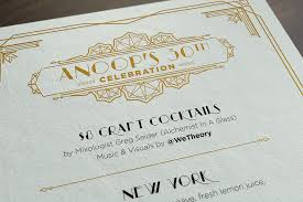 30th Birthday Invitation Cards Great Gatsby Invitation Print Talia Design Nyc Freelance