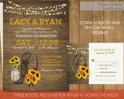 western wedding invitations western wedding invitation set wagon wheel rustic jar
