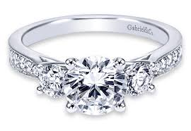 3000 dollar engagement ring bentley solitaire halo three and side sone