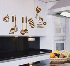 buy decals design u0027stylish kitchen u0027 wall sticker pvc vinyl 60 cm
