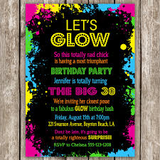 neon party invitation wording glow in the dark pinterest