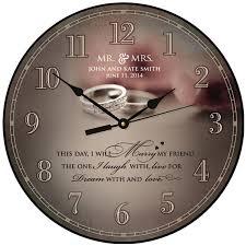 personalized wedding clocks personalized wedding clock or anniversary by dayspringmilestones