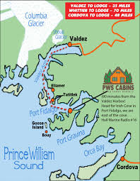 Cordova Alaska Map by Prince William Sound Location