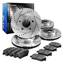 bmw rotors amazon com eline drilled slotted brake rotors ceramic pads kit