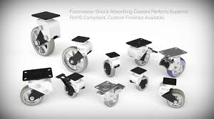 shock absorbing casters by footmaster youtube
