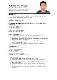 Sample Resume Format For Domestic Helper by Junrey Updated Resume