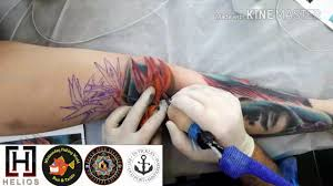 best knee tattoo flower colour wez is fat nadia is awesome kevin