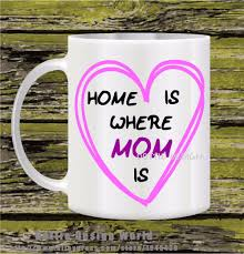 home is where mom is best funny travel novelty mug 11oz ceramic