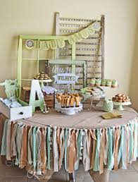 mint and gold baby shower evite
