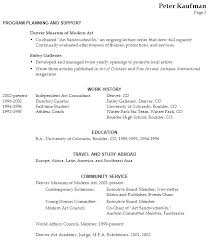 Example Of Functional Resume by Arts Administration Sample Resume 20 Art Resume Sample Art