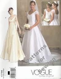 wedding dress patterns free pattern sewing vogue woman bridal wedding gown dress sz 18 22