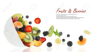 fruit fresh fresh fruits coming out from a bowl stock photo picture and