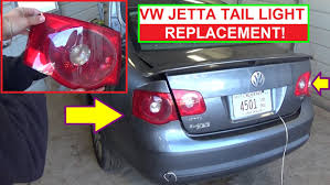vw jetta mk5 rear tail light removal and replacement brake light