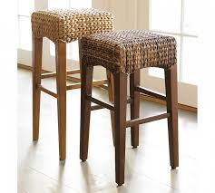 Oak Bar Stool With Back Furniture Charming Rattan Bar Stools With Natural Colors