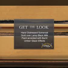 get the look somerset gold hand distressed over lamp black milk